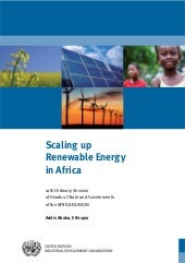 Scaling up renewable energy in africa