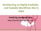 Architecting an Highly Available and Scalable WordPress Site in AWS