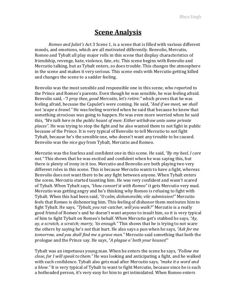 scene analysis essay