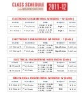 Schedule of weekend batch 2011-12 of ec, ee, me, ce & cs for 2nd july & 3rd july.
