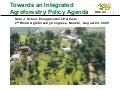 Towards an Integrated Agroforestry Policy Agenda