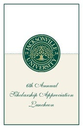 Sixth Annual JU Scholarship Appreci...