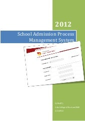 School admission process management...