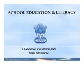 School Education and Literacy in th...