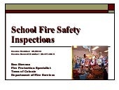 School Fire Safety Inspections