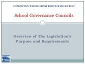 School governance councils overview...