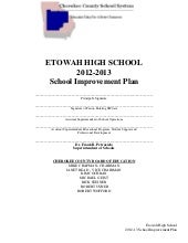 Etowah High - School Improvement Pl...