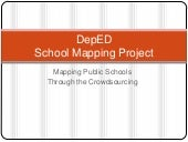 DepEd School Mapping Project throug...