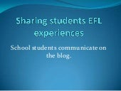 School students communicate on the ...