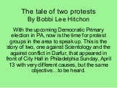 The tale of two protests