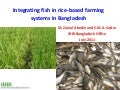 Science Forum Day 3 - Zainul Abedin - Integrating fish in rice-based farming systems in Bangladesh