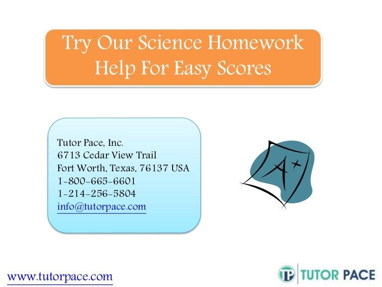 Online science homework help