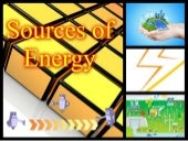 Science Sources of Energy