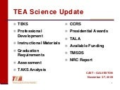 New Science TEKS_TEA Update