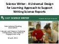 Science Writer: A Universal Design for Learning Approach to Support Writing Science Reports