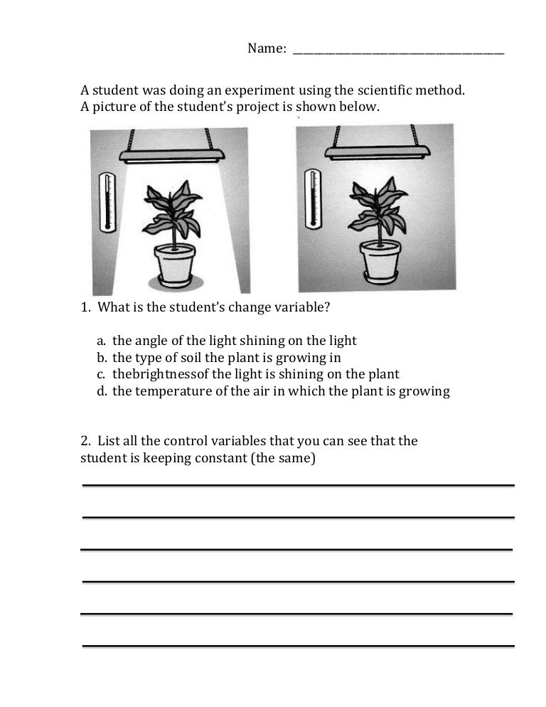 Worksheet Scientific Method Practice Worksheet scientific method variables worksheet