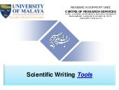 Scientific writing tools by: Dr. Nader Ale Ebrahim