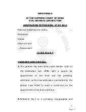 SC Judgement - Appointment Of Third...