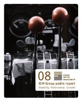 SCM Group Annual Public Report 2008