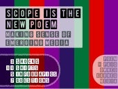 Making Sense of Emerging Media: 'SCOPE' is the New 'POEM'