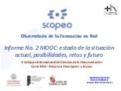 Scopeo Informe No. 2 MOOC: estado d...