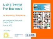 Intro to Using Twitter for Business