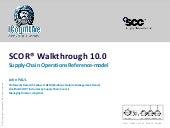 SCOR®10.0 for Supply Chain Optimization