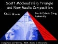 Scott McCloud's Big Triangle and New Media Composition