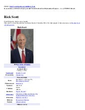 RICK SCOTT - Florida Governor (Tea ...
