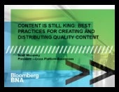 Content is Still King: A look at best practices for creating and distributing quality Content - BDI 12/11 Social Media Marketing Summit for Law Firms