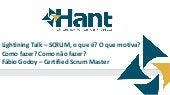 Lightining talk sobre SCRUM, O que ...