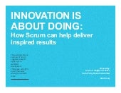 Innovation is about Doing: How Scrum Can Deliver