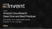 (SDD411) Amazon CloudSearch Deep Dive and Best Practices | AWS re:Invent 2014