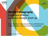 Marc Stickdorn & Jakob Schneider – Mobile ethnography and ExperienceFellow, a service design start-up