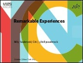 Remarkable Experiences- Billy Seabrook, Citi