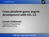 Cross-platform game engine developm...
