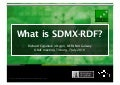 What is SDMX-RDF?