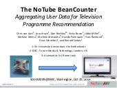 The NoTube BeanCounter: Aggregating...