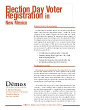 Election Day Voter Registration in ...