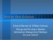 Student Data Solutions (SDS)
