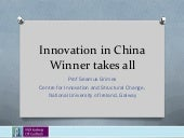 Innovation in China: winner takes all