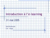 Introduction à l\'e-learnining