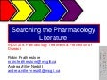 Searching the Pharmacology Literature