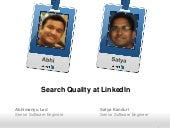Search Quality at LinkedIn