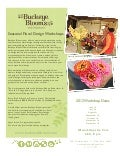 Seasonal floral design workshop series