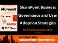 SharePoint Business Governance and User Adoption Strategies