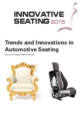 Trends and Innovations in Automotive Seating