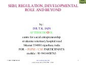 Sebi, regulation, developmental rol...