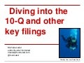 SEC Filings Master Class - Form 10Qs by Michelle Leder