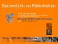 Second Life en Bibliotheken